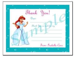 10 Ariel Little Mermaid Personalized Invitations #4