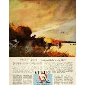 1945 Ad Gilbert Paper Duck Hunter Hunting Menasha WI