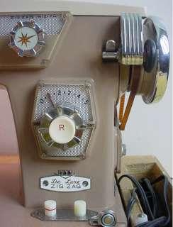 Vtg Rare Revere Deluxe Heavy Duty Zig Zag Sewing Machine Model 139