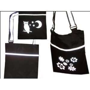 Tote Backpack Bag w/ Flower Design 15x13   RT1