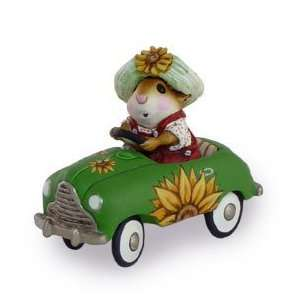 Forest Folk Sunflower Petal Pusher Summer Mouse Car