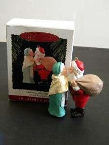 Hallmark Santa Ornament Series Mr. & Mrs. Claus #10 Christmas Eve Kiss