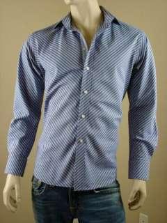 Robert Graham Stunning Blue w Pink Stripes Dress/Casual/Club Shirt L