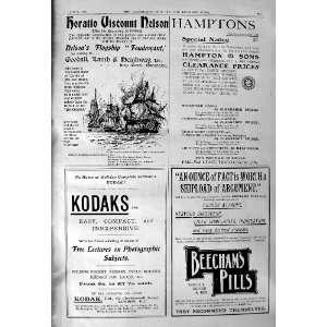 1901 Advertisement Kodak Beechams Pills Hamptons