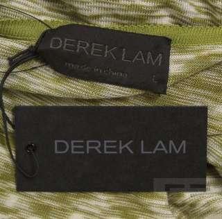 Derek Lam Green, Brown & White Knit 3/4 Sleeve Tunic Top, Size Large