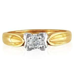 .10ct Heavy Solitaire Diamond Promise Ring Set in 10K Gold