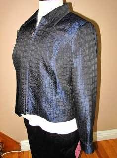 Marina Rinaldi Max Mara Italy Evening Jacket Black/Blue Crystal MR21