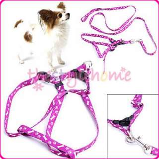 Bone Paws Leash Lead& Harness SET for Small Dog Pet Cat