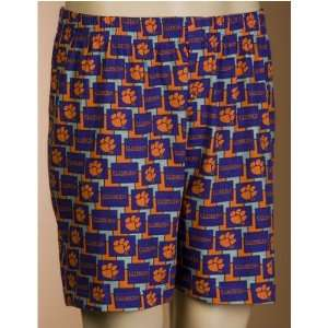 Tigers NCAA Mens Pattern 2 Boxer Shorts (Large) Sports & Outdoors