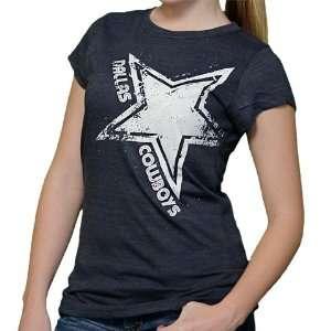 Cowboys Navy Rising Star Short Sleeve Tee Shirt: Sports & Outdoors