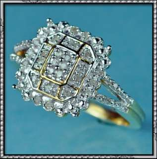 NEW 10K GOLD GENUINE DIAMOND LADIES FASHION RING