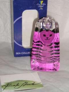 Sea Glasbruk Sm Pink Moia Katt/Cat Renate Stock RP $50