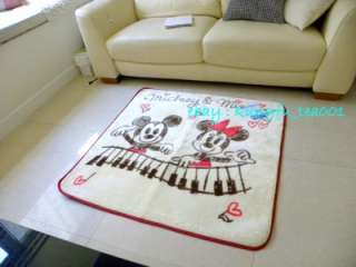 Disney Mickey & Minnie Playing Piano Living Room Mat Rug Carpet 100