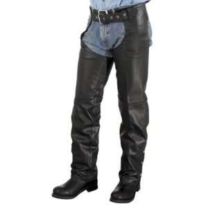 River Road Basic Motorcycle Leather Motorcycle Chaps Large