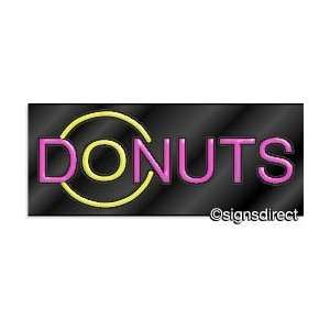 DONUTS Neon Sign w/Graphic Office Products