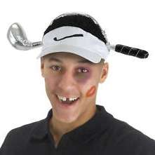 Cheetah Woods Golf VISOR Funny Costume Hat