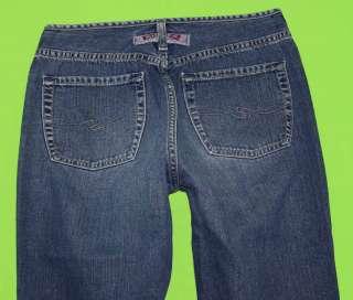 Silver sz 30 x 31 Flare Womens Blue Jeans Denim Pants FK67