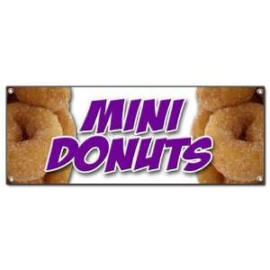 SIGN donut fried dough sugar chocolate mini powdered cinnamon doughnut