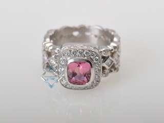 Doris Panos 18K White Gold Diamond Tourmaline Ring