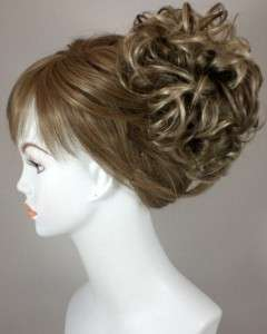 Blond Bun Based Updo w/Drawstring Pageant Hairpiece