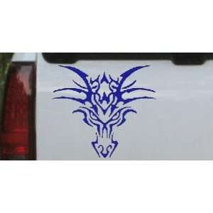 Tribal Dragon Car Window Wall Laptop Decal Sticker    Blue