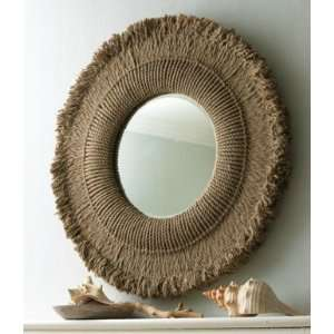 Extra Large HEMP ROPE Round Wall Mirror
