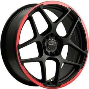 Drifz Monoblock 18x8 Black Red Wheel / Rim 4x100 & 4x4.5 with a 35mm