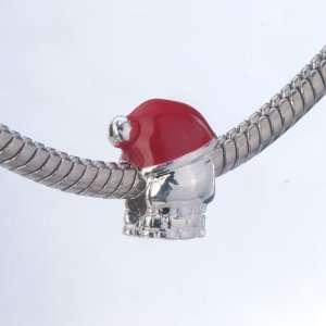 Lovely Red Hat Santa Beads Fits Pandora Charms Bracelet