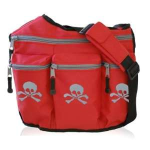 Diaper Dude Original Skull Red Diaper Bag: Baby