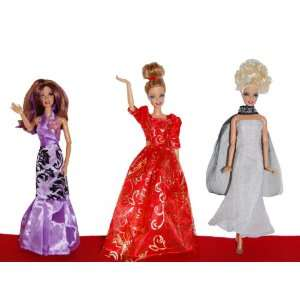 Barbie Doll Dresses   The Red Carpet Collection (3 Dress
