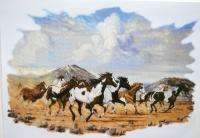Painted Group of Horses Running T Shirt M L XL 2XL Choose Color