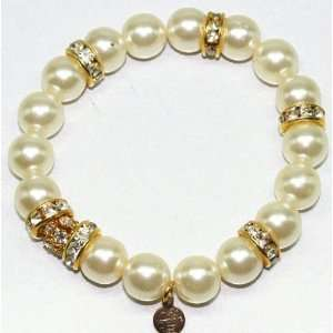 Kirks Folly Crystal and Pearl Stretch Bracelet Everything