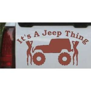com Its A Jeep Thing With Girls Off Road Car Window Wall Laptop Decal