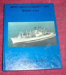 1991 USS El Paso LKA   117 Mediterranean Cruise Book