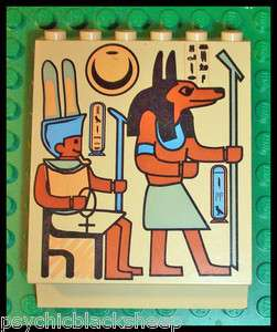Rare LEGO EGYPTIAN Dog Pharaoh HIEROGLYPH Pattern SLOPE Brick PANEL