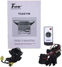 TView T2207IR 22 Thin Overhead Car/Truck/SUV Video Monitor IR