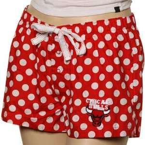 Chicago Bulls Ladies Red Polka Dot Galaxy Pajama Shorts