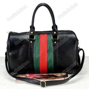 Fashion Black Tote Womens PU Leather Shoulder Messenger Bag Handbag