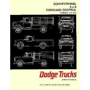Series Truck Factory Shop   Service Manual Chrysler Corp. Books