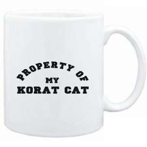 Mug White  PROPERTY OF MY Korat  Cats