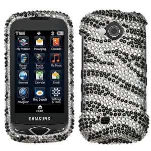 SAMSUNG U820 (Reality) , Black Zebra Skin Diamante Protector Cover