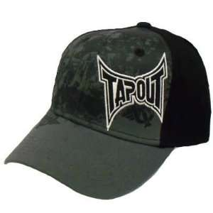 Tapout Fighting MMA UFC Black Gray Hat Cap Large XLarge XL