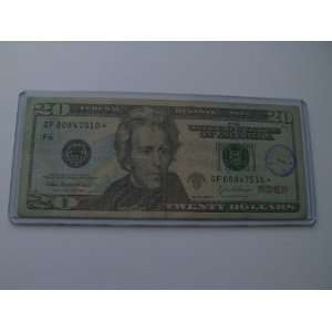 Twenty Dollars Star Note Series 2004 A $20 Bill GF00847510