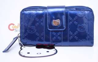 Sanrio Hello Kitty Embossed Wallet  Metallic Blue  Loungefly