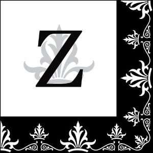 Luncheon Size Paper Napkin,Regalia Monogram Z:  Kitchen