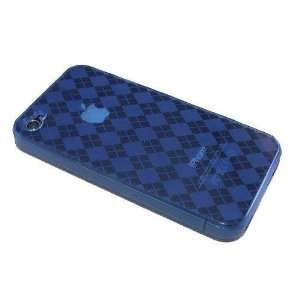 Modern Tech Blue Gel Case/ Skin for Apple iPhone 4 Cell