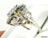 ORDER EASTERN STAR   14k White Gold .10ctw Diamond RING