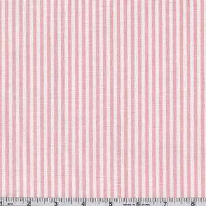 68 Wide Oxford Cloth Shirting Pink/White Fabric By The