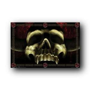 Demon Devil Skull Horns Evil 22.5X34 Wall Poster 8896
