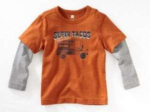 TEA COLLECTION Super Taco Truck Layer Tee 7 NWT